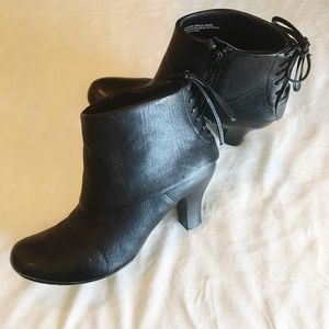 Born Crown Black Leather Booties   253
